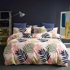 Синие банановые листья Узор одеяла <b>постельное белье</b> Слон ...