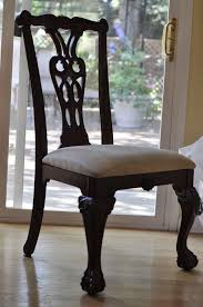 room ergonomic furniture chairs: brown white padded dining room chairs