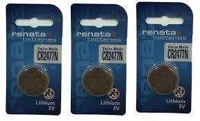 <b>Батарейка</b> Renata, 3 шт. (<b>CR2477N</b>), арт. А25031