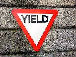 Image result for pictures of yielding
