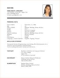 simple resume samples format of sample resume for freshers gallery photos of resume examples formats