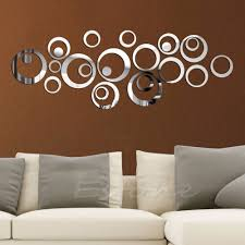 mirror wall decor circle panel: bedroom appealing wall mirror interior decoration for home mirror