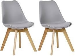 WOLTU Tulip Chairs Kitchen <b>Dining Chairs</b> Set of <b>2 pcs</b> Counter ...
