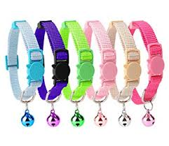 HOMIMP 6PCS Breakaway Cat <b>Collar Safety</b> with Bell for Kitty 20 ...