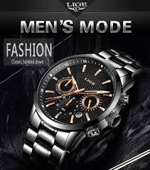 Relojes <b>LIGE Men</b> Watch Top Brand Luxury <b>Casual Fashion</b> Quartz ...