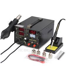 <b>YIHUA 853D 3-in</b>-1 Hot Air Gun + LED Soldering Rework Station + ...