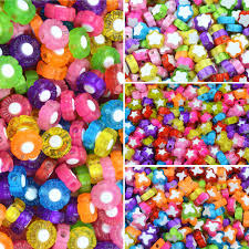 <b>100PCS</b> Loose Beads <b>Mixed Colors Butterfly</b> Star Jewery DIY ...