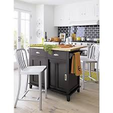 instantly expand your kitchens work surface and storage area with belmont our contemporary kitchen island aluminum crate barrel