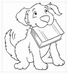 Раскраска собака и человек