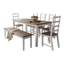 chunky dining table and chairs dining table and chairs canterbury white and dark pine