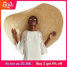 <b>Fashion</b> Large Sun Hat Beach Anti UV Sun Protection <b>Foldable</b> ...