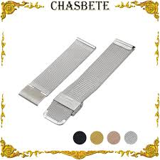 16mm <b>18mm 20mm 22mm</b> 24mm <b>Milanese</b> Stainless Steel Watch ...