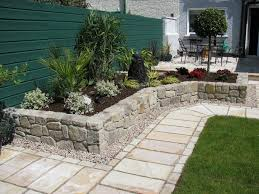 design ideas small spaces image details: garden small patio designs by stone retaining wall and terrace garden