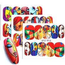 1 шт. абстрактные <b>наклейки для лица</b> на ногти крутая Девушка ...