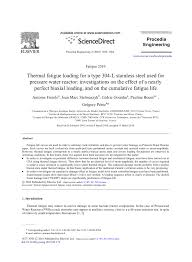 (PDF) Thermal fatigue loading for a type 304-L <b>stainless steel</b> used ...