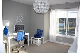 gray home office. blue white home office modernhomeofficeandlibrary gray a