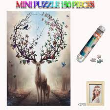 <b>MOMEMO</b> Elk In Forest Adults Paper 150 Pieces Jigsaw Puzzles ...