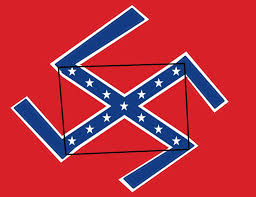 Image result for confederate flag america's swastika