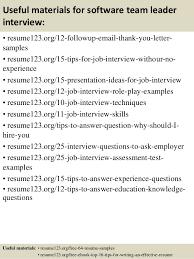 top  software team leader resume samples       useful materials for software team leader