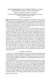 SELF-INCOMPATIBILITY IN CREPIS FOETIDA (L.) SUBSP ...