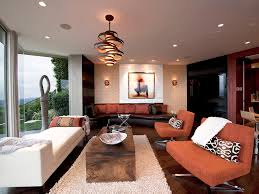 living room modern spiral shade pendant lamp with led light combined with ceiling recessed lighting ceiling dining room lights photo 2