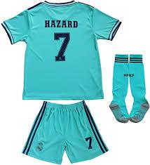 GamesDur <b>2019/2020 Real Madrid</b> Hazard #7 Away Third Soccer ...