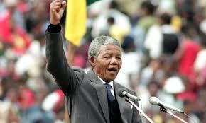 Resultado de imagem para nelson mandela presidente da áfrica do sul