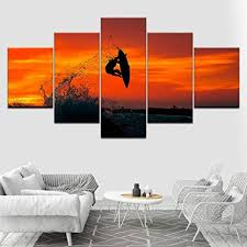 WXHYW Prints Poster Wall Modular Picture Surfer ... - Amazon.com