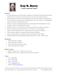 Resume Real Estate Agent Free Sample Real Estate Agent Resume     Brefash     The Real Estate Agent Resume Examples Tips Writing Resume Sample Real Estate Agent Resume With No