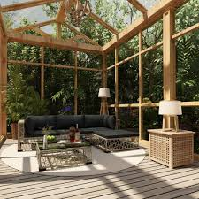 vidaXL <b>5 Piece Garden Lounge</b> Set with Cu- Buy Online in ...