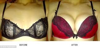 Image result for push up bra before and after a cup