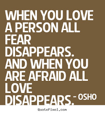 Image result for love and fear