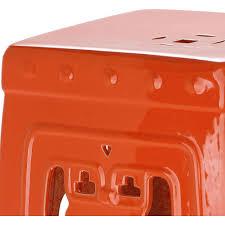 patio stool:  safavieh dynasty filigree orange patio stool outside bistro table amp bar accent