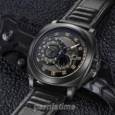 <b>44mm Parnis</b> Sapphire Miyota Automatic Men's Watch 24-Hours ...