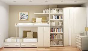 white furniture cool bunk beds: awesome girls bedroom interior design ideas with multi function white bunk bed fused with book shelve