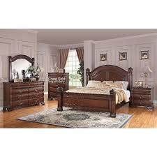 casual contemporary piece king isabella dark pine  piece king bedroom set