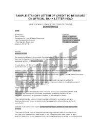 letter of credit informatin for letter letter of credit sample templates