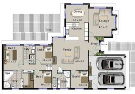 House Plans With Bedrooms Or Bedroom Houses Floor Plans Four    House Plans With Bedrooms And HILLSIDE BEDROOM LIVING AREAS DOUBLE GARAGE HOUSE PLANS
