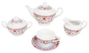 """<b>Чайный сервиз</b> Nouvelle De France """"Разноцветные тюльпаны"""" <b>15</b> ..."""