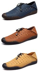 Men Hollow Out <b>Two Wearing</b> Ways <b>Breathable</b> Stitching Outdoor ...