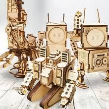 DIY 3D <b>деревянная</b> головоломка <b>собранная модель</b> робота ...
