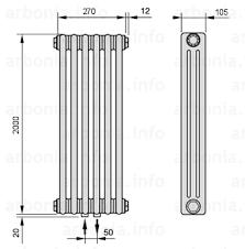 <b>Радиатор ARBONIA 3200</b>/6 №99 цвет <b>сталь</b> под лаком (TF ...