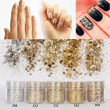 1 box 10ml mixed size nail glitter powder mixed color series art sequins manicure decorations