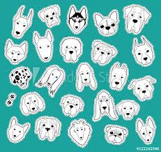 <b>Animals patch</b> collection of purebred dogs. Patches <b>set</b> dog of ...