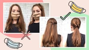 Прически с масками для лица: 10 удобных стилей, фото и видео