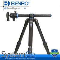benro systemgo ga158t professional 4 sections aluminum camera tripod horizontal axis center column for canon nikon