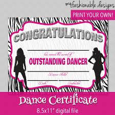 certificate dance certificate template new dance certificate template medium size