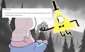gravity falls dipper pines mabel pines gideon gleeful bill cipher ... via Relatably.com