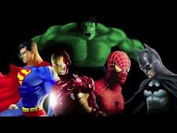 digital speed painting superman ironman spiderman batman and the incredible hulk batman superman iron man