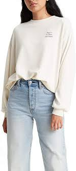 <b>Levi's Women's</b> Graphic Frontier <b>Slouchy</b> Crewneck Sweatshirt at ...